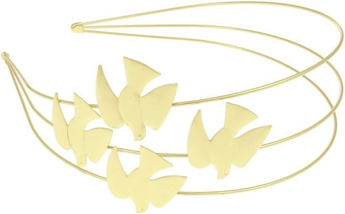 Capelli New York Triple Row Metal Bird Headband