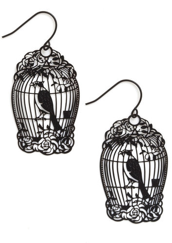 How the Caged Bird Swings Earrings