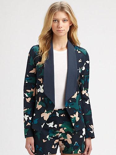 Augden Silk-Trim Blazer