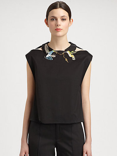 Thakoon Bird Embroidery Top