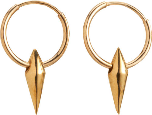 Wendy Nichol Gold Downward Spike Cone Hoop Earrings