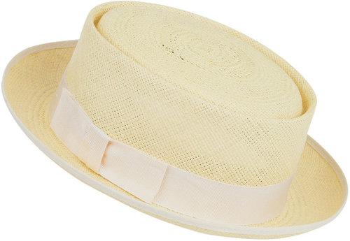 Lemon Straw Boater, Christys' Hats