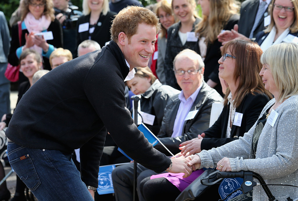 Prince Harry met with brain injury survivors.