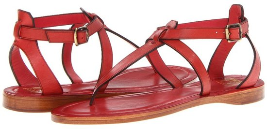 Frye - Rachel T Sandal (Bronze Metallic Leather) - Footwear
