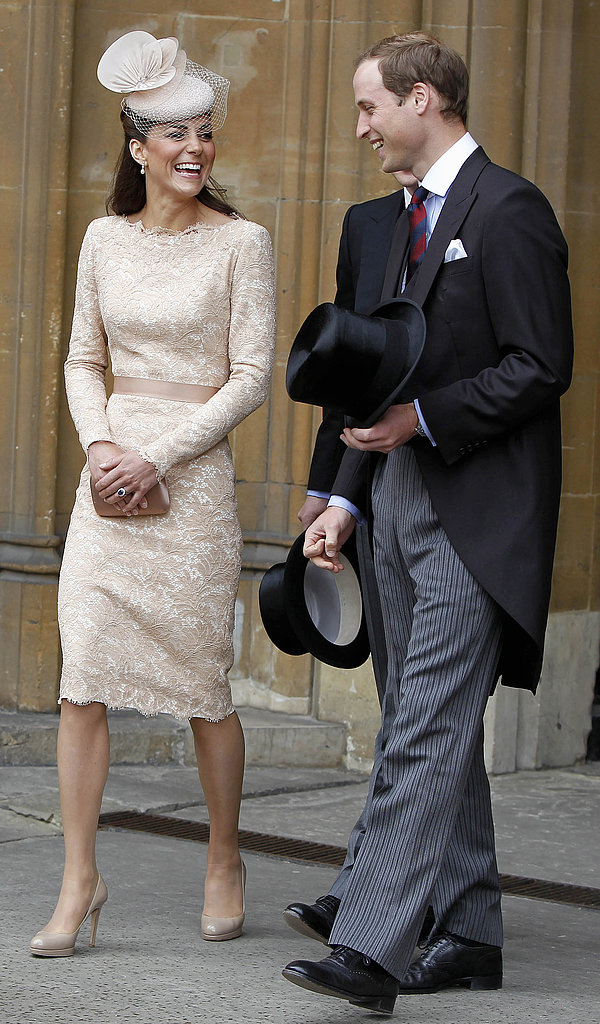 Kate Middleton laughed with Prince William during a June 2012 Diamond Jubilee event in London.