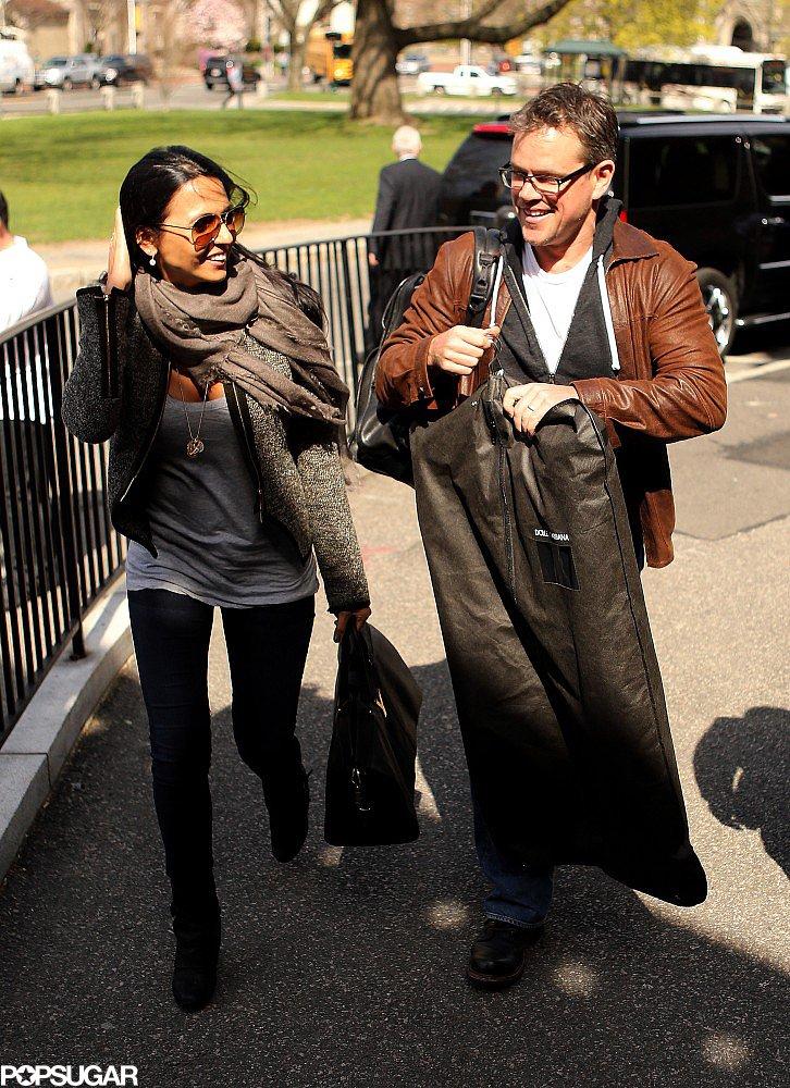 Matt and Luciana Damon were at Harvard University to celebrate Matt's 2013 Harvard Arts Medal.