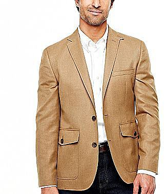 Stafford® Military-Style Sportcoat