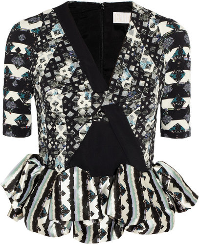 Peter Pilotto Lara crepe and silk peplum top