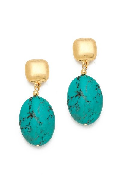 Beautiful Kenneth Jay Lane turquoise earrings ($36) for the mom who likes to show off her bold sense of style.