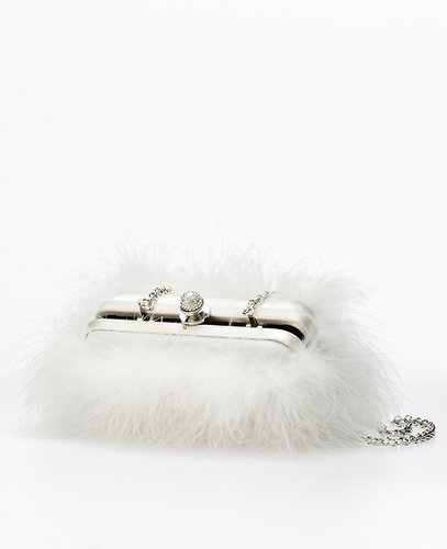 Marabou Feather Clutch