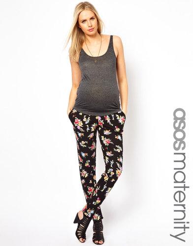 ASOS Maternity Peg Pant in Floral Print