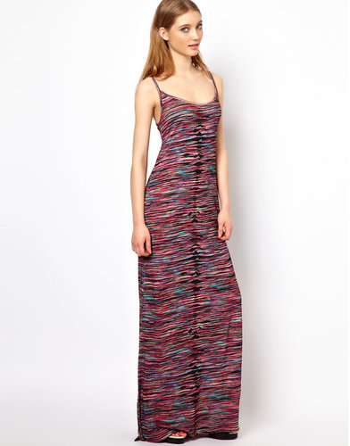 House of Holland Strappy Maxi Dress in Multi Print