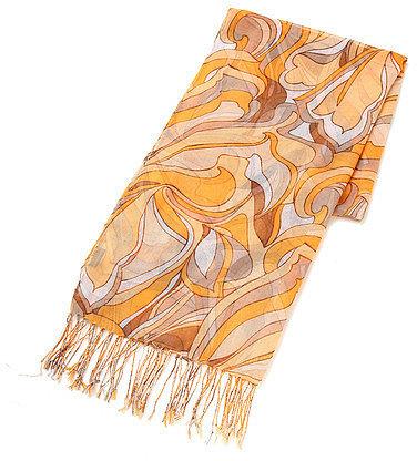 クードシャンス ジオメトリック柄スカーフ