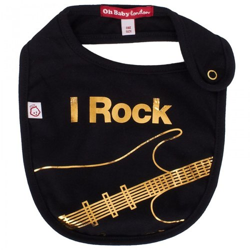 Oh Baby London Black I Rock Bib