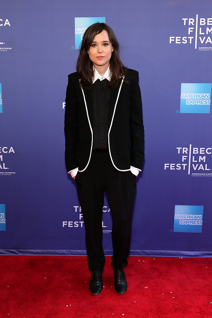 Ellen Page donned a suit for the Q&A session for her film Beyond Two Souls.