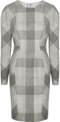 Jil Sander Plaid melton-wool dress