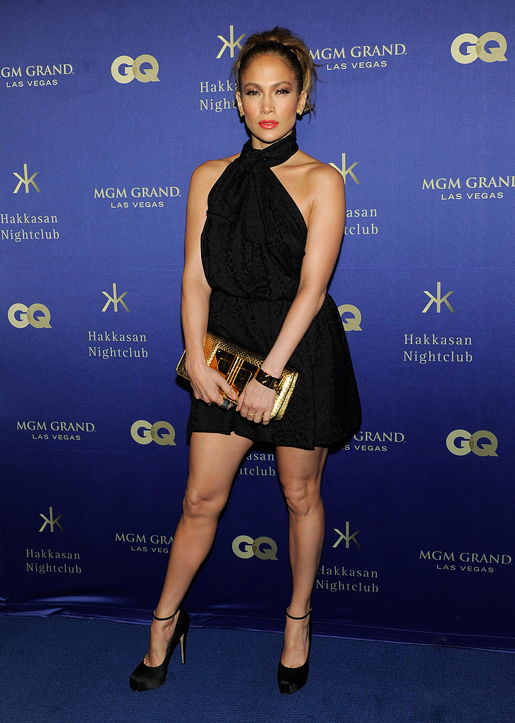 Jennifer Lopez walked the carpet at the Hakkasan grand opening in Las Vegas.