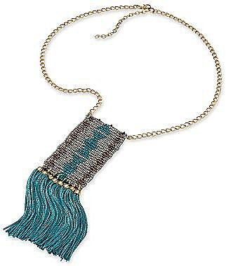 Decree® Seedbead Mesh Necklace