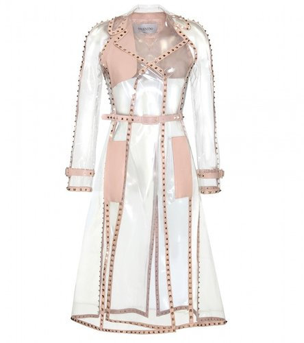 Valentino TRANSPARENT ROCKSTUD TRENCH COAT