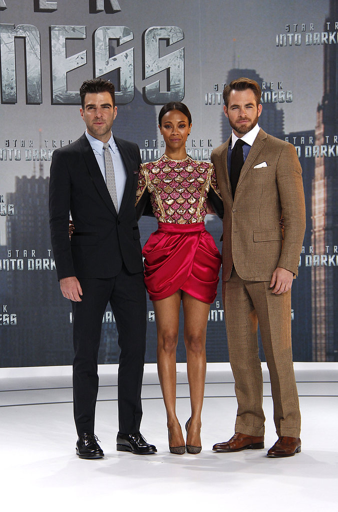 Zachary Quinto, Zoe Saldana, and Chris Pine got together before