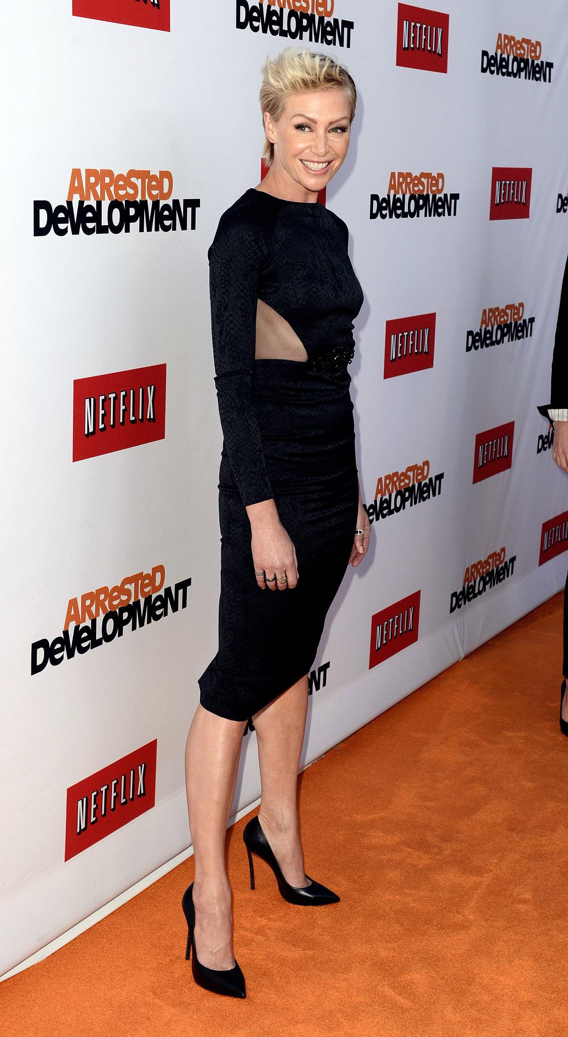 Portia de Rossi wore a cutout dress.