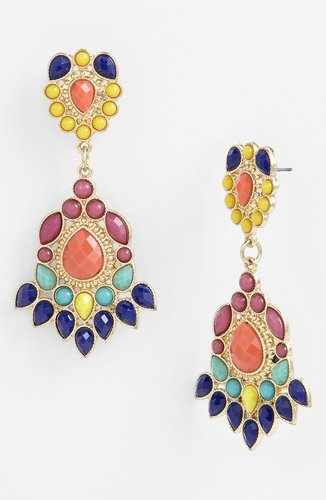 Panacea 'Tribal' Drop Earrings
