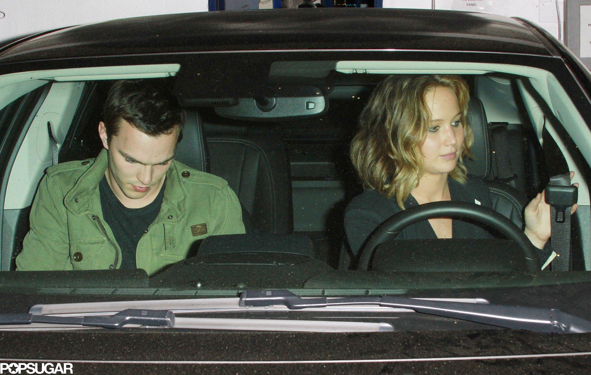 Jennifer Lawrence and Nicholas Hoult left dinner together.