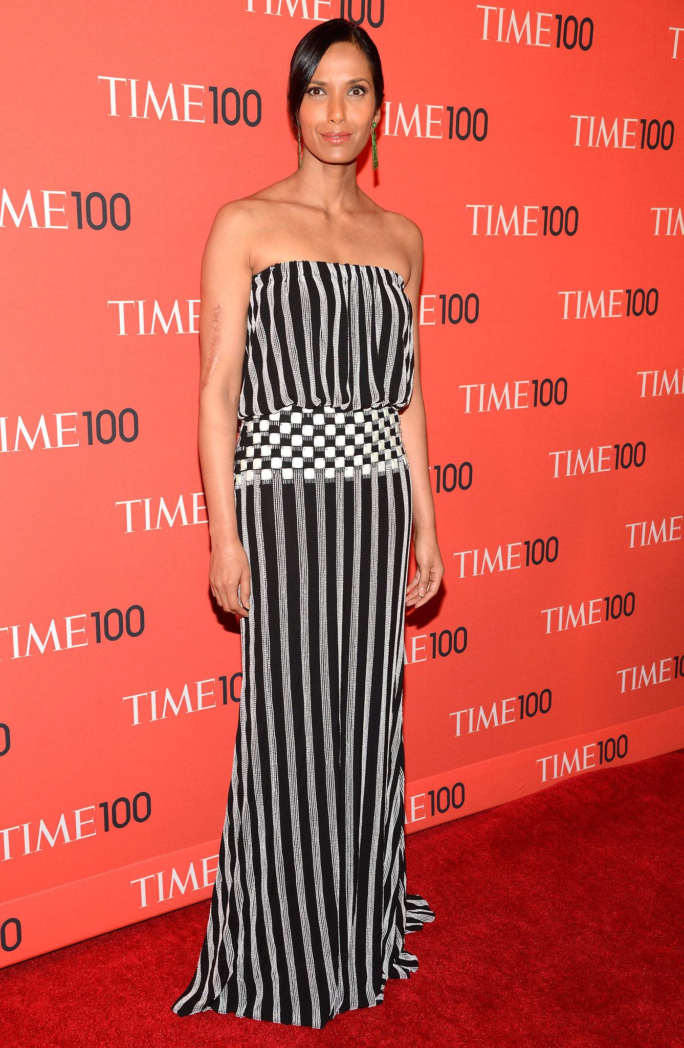 Padma Lakshmi at the Time 100 Gala in New York.