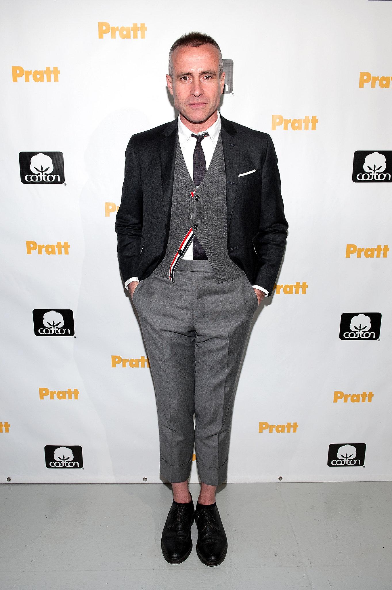 Thom Browne at the 114th annual Pratt Institute Fashion Show & Award Presentation in New York.