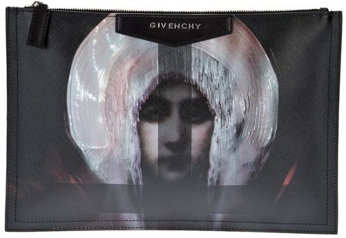Givenchy printed large clutch