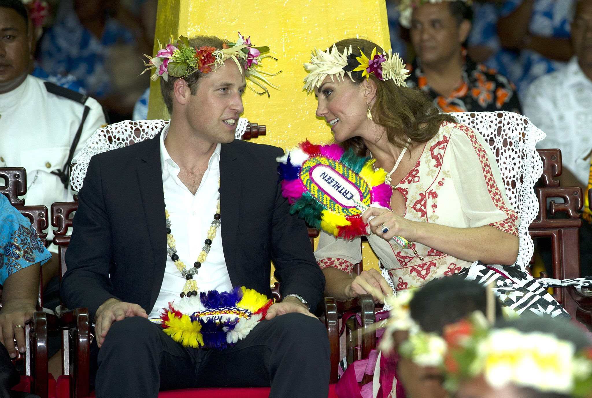 Prince William and Kate shared a private moment in Tuvalu during their 2012 visit.
