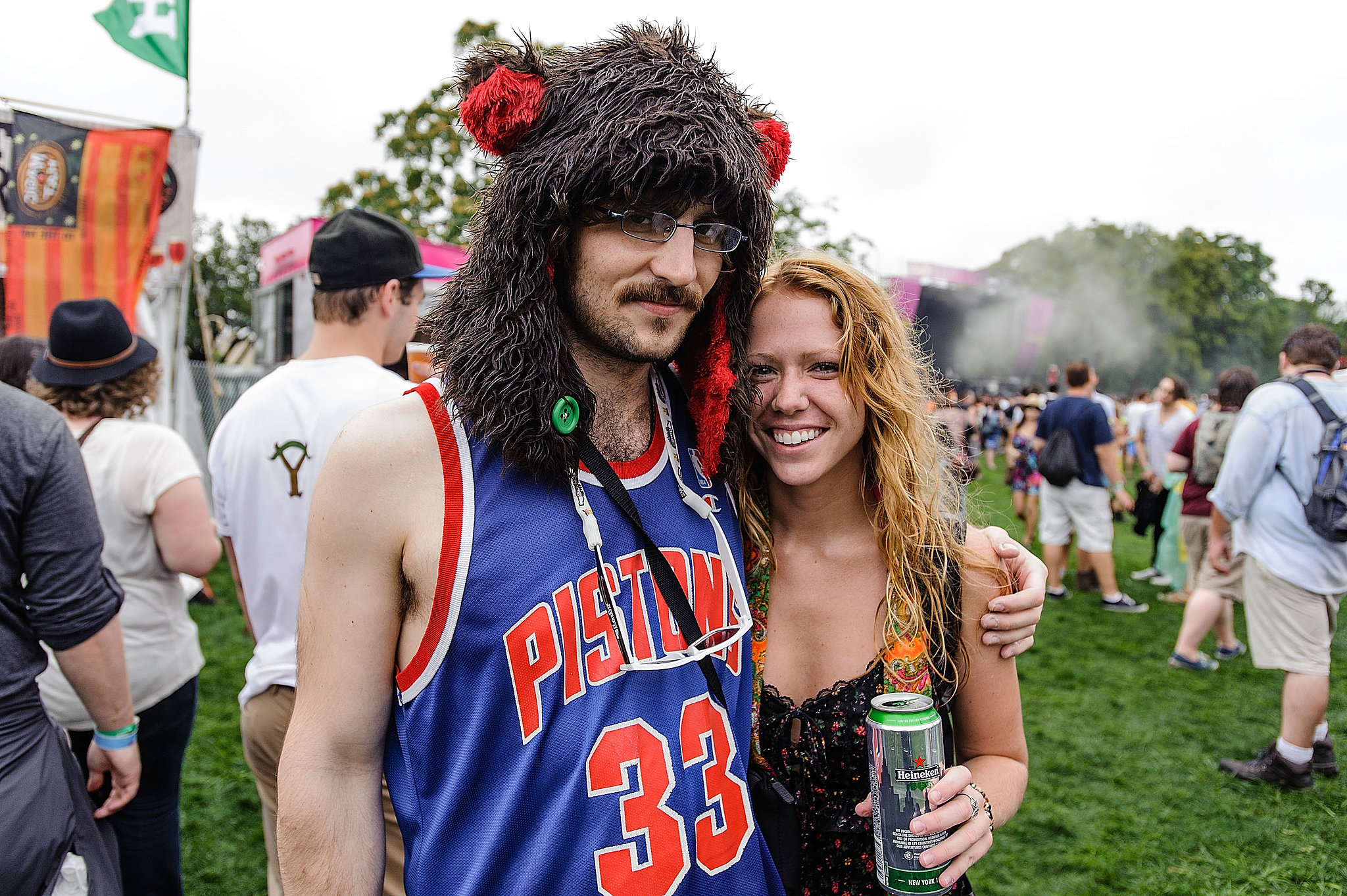 Creatively dressed festivalgoers got close at the Catalpa Festival at Randall's Island in New York City.