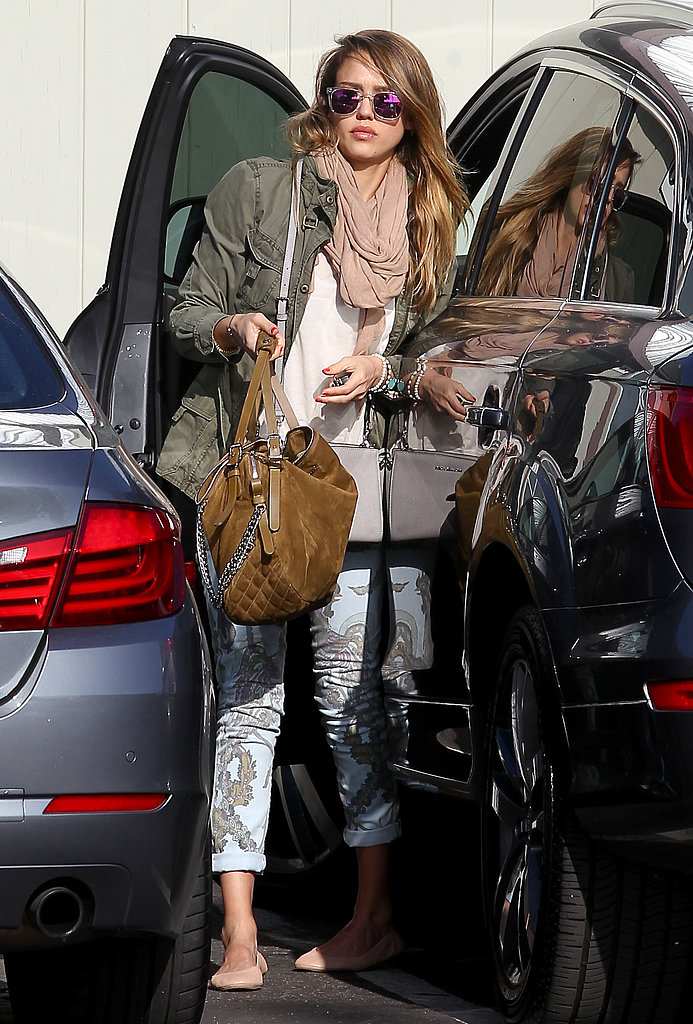 If you need a fresh pair of printed jeans, consider Jessica Alba's Citizens of Humanity Avedon skinny jeans in Chinoiserie ($198, originally $248). We adore the soft blue hue, as well as the intricate design.