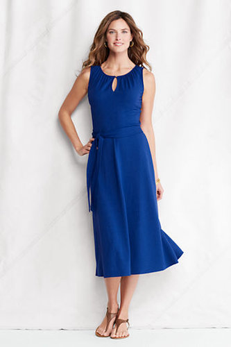 Women's Regular Cotton Modal Keyhole Dress