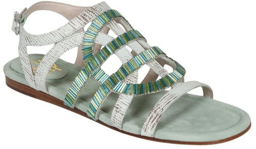 Aggie Flat Sandal in Mint