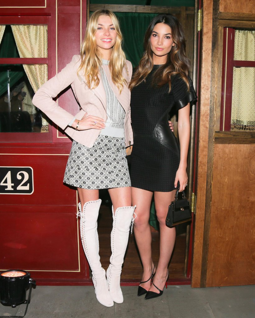 Models Jessica Hart and Lily Aldridge got together at the Ferragamo celebrations in NYC.