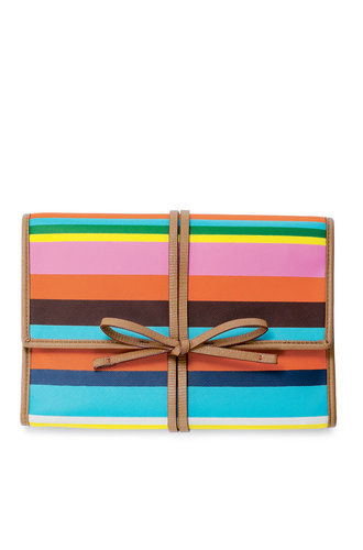 Multicolored Stripe Jewelry Roll & Organizer | Bring It Clutch | Stella & Dot