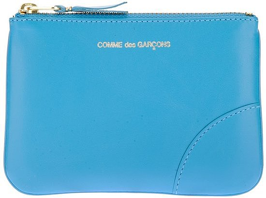 This Comme des Garcons Logo Zip Purse ($78) may be simple, but the gorgeous blue hue and gold hardware pack a stylish punch.