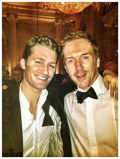 Matthew Morrison was dressed up for a black-tie event with Homeland's Damian Lewis. Source: Twitter user Matt_Morrison