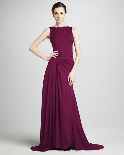 Halston Heritage Gathered Gown