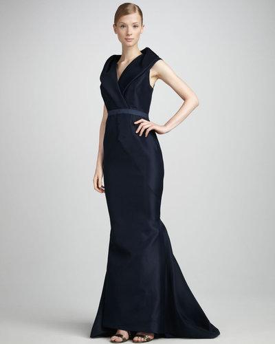 J. Mendel Shawl-Collar Gown