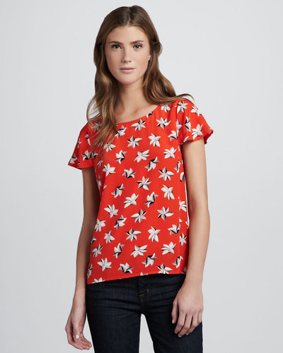 Joie Murphy Tropical Floral-Print Top