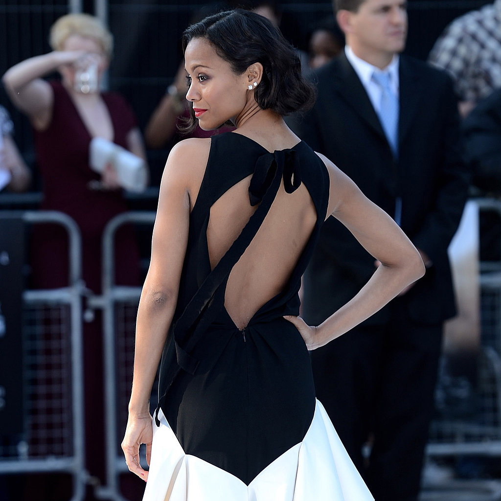 Zoe Saldana Stuns in Black and White at the Latest Star Trek Premiere