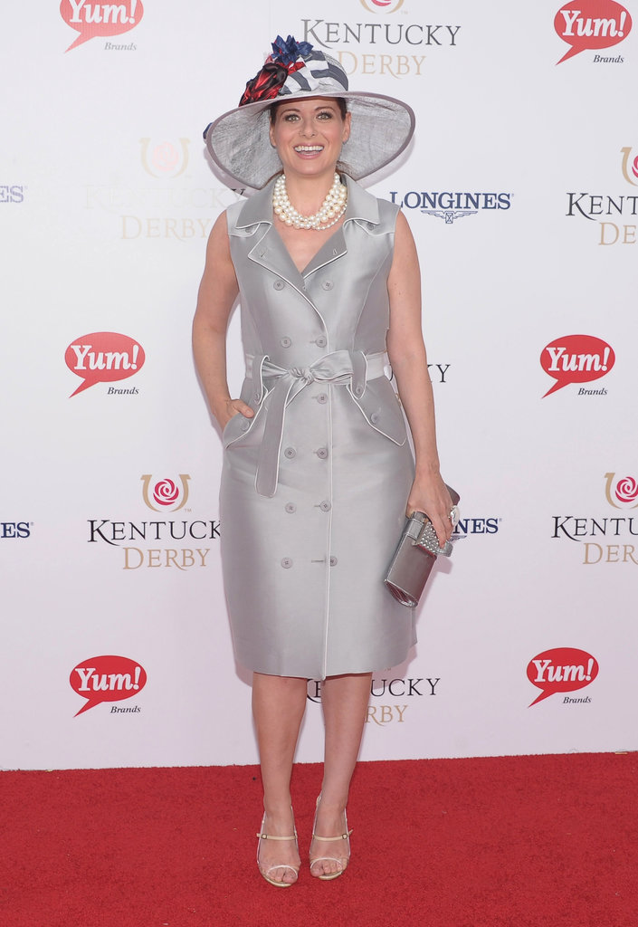 Debra Messing matched her hat to her silver dress at the Kentucky Derby in 2012.