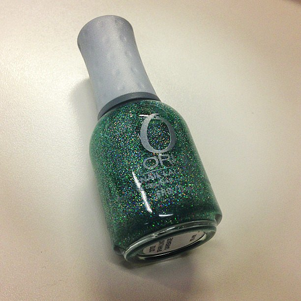 Mash Up, the latest collection from Orly, features this glitzy green called Sparkling Garbage. It'll be available from August.