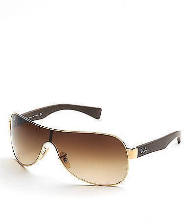 RAY-BAN Single-Lens Wraparound Sunglasses