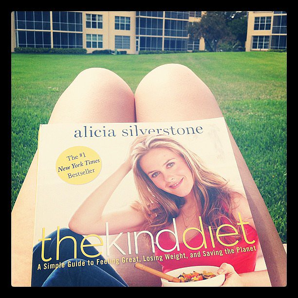 """Mandicoyne noted, """"Finally reading The Kind Diet while soaking up some [sun]."""""""