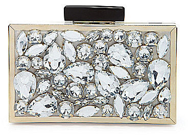 Kate Landry Social Crystal Small Box Frame Clutch