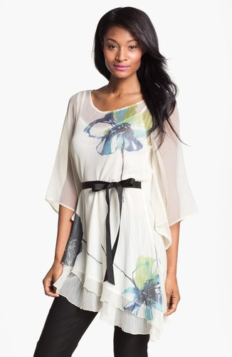 Komarov Print Tunic with Slip Liner