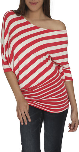 Asymmetrical Stripe Dolman Tunic